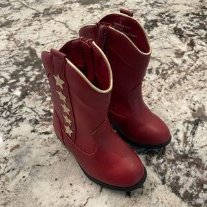 Toddler Red Boots 6